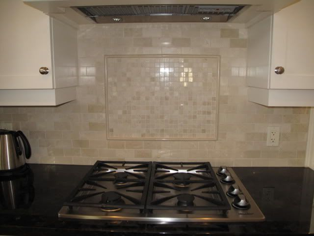 Crema Marfil Polished Marble Backsplash Kitchens Kitchen Countertop