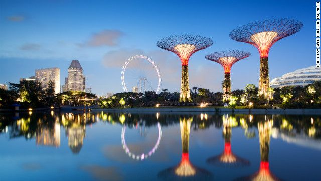 Singapore's latest development will finally blossom later this month, with an imposing canopy of artificial trees up to 50 meters high towering over a vast urban oasis.
