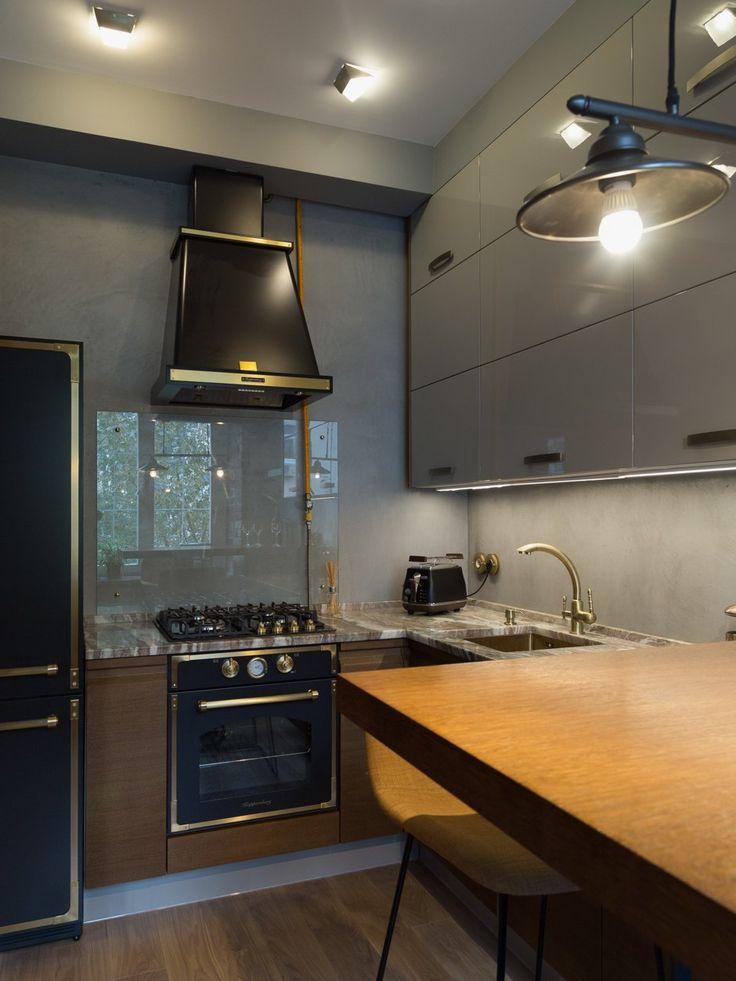 Квартира виндустриальном стиле сбалконом вванной комнате — The Village