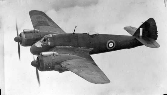 Bristol Beaufighter. This picture really shows the odd proportions. The engines actually extend forward of the fuselage.