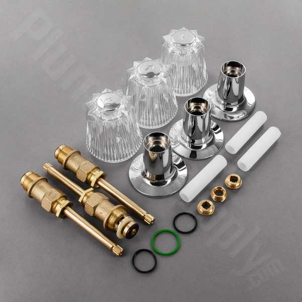 3 Handle Shower Faucet Repair Kit Price Pfister Repair Parts For Three Handle Tub Shower Series In 2020 Shower Faucet Repair Faucet Repair Shower Faucet Replacement