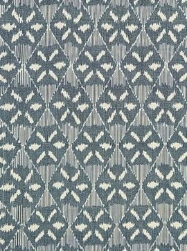 Darjeeling Cotton Ikat Fabric - transitional - upholstery fabric - Covered In Style Inc