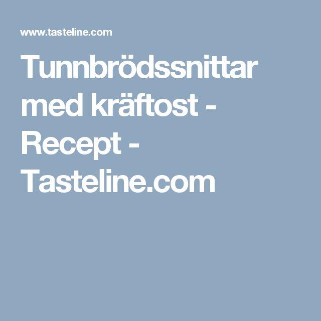 Tunnbrödssnittar med kräftost - Recept - Tasteline.com