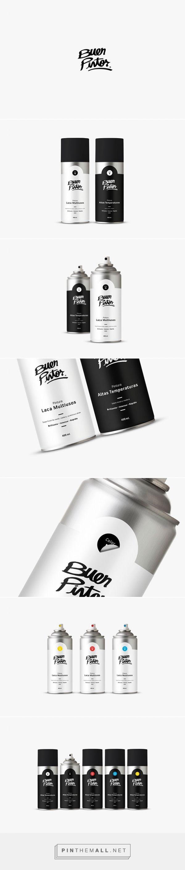Buen Pintor spray paint by Brian Piraquive. Source: Daily Package Design Inspiration. Pin curated by #SFields99 #packaging #design