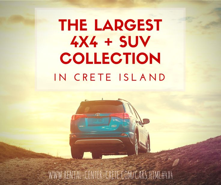 Check the Largest 4x4 & SUV Collection in #Crete Island by Rental Center Crete. Book any a Group G, G1, G2& J and explore the mountains of Crete  http://www.rental-center-crete.com/cars.html#4x4