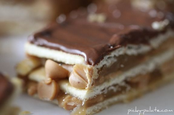 Chocolate, peanut butter, carmel club bars