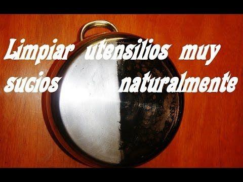 LIMPIAR OLLAS QUEMADAS NATURALMENTE. Clean pots burned naturally