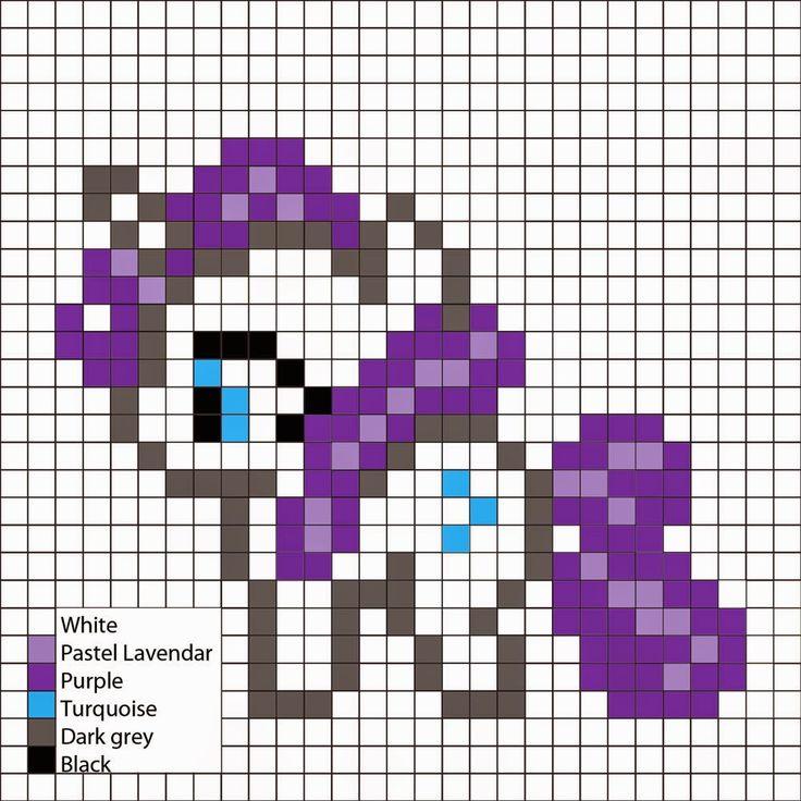 Rarity Perler Pattern - Perler Mania,