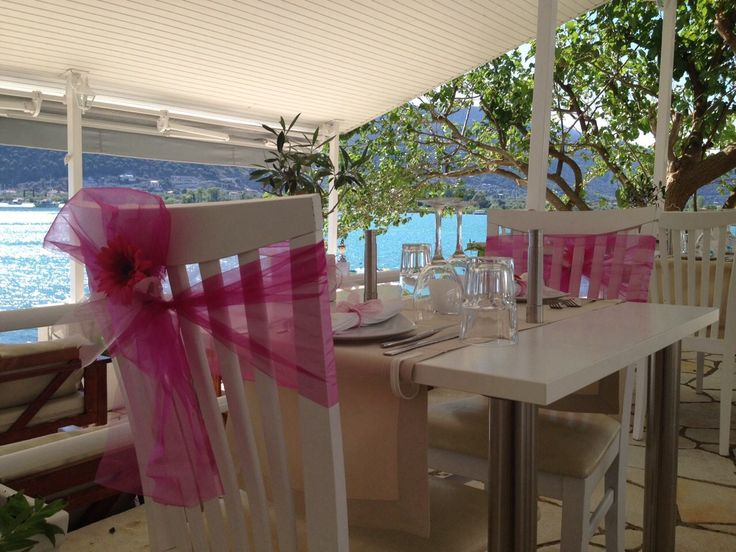 Wedding dinner just for two at Seaside Restaurant Geni Lefkada Greece.