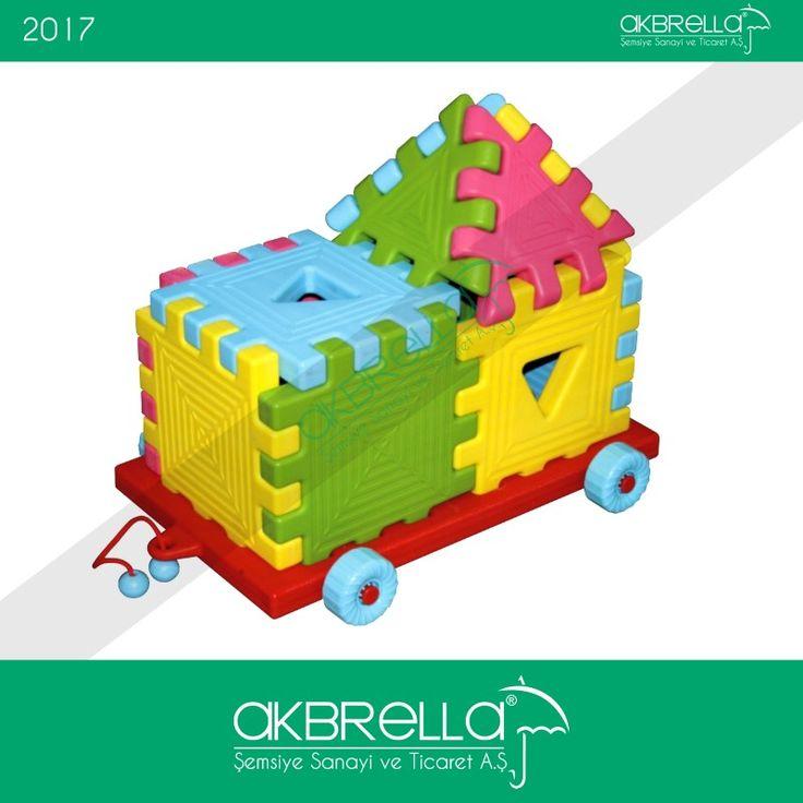 Arabalı ev şeklindeki bu puzzle parçaları renkli eğlenceli çocuk oyun parkları ve odaları için zeka açıcı oyun setlerini Akbrella Online satış sistesinde bulabilirsiniz. #plastikaraba #plastikpuzle #plastikoyuncak