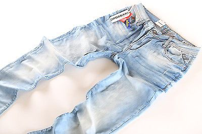 Cipo & Baxx Jeans Herren Hose hellblau wash Neuware C -138 Clubwearjeans
