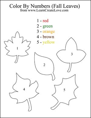 color by numbers fall printable activity