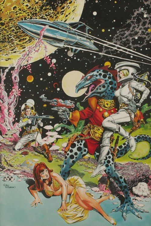 Al Williamson. Very silly. Love the colors, though.