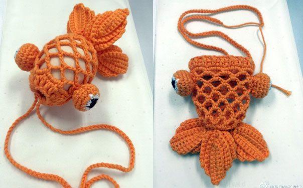 Оригинальное оформление пасхального яйца «Золотая рыбка». Схема вязания крючком