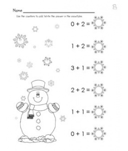 *FREE* Winter Addition Worksheet