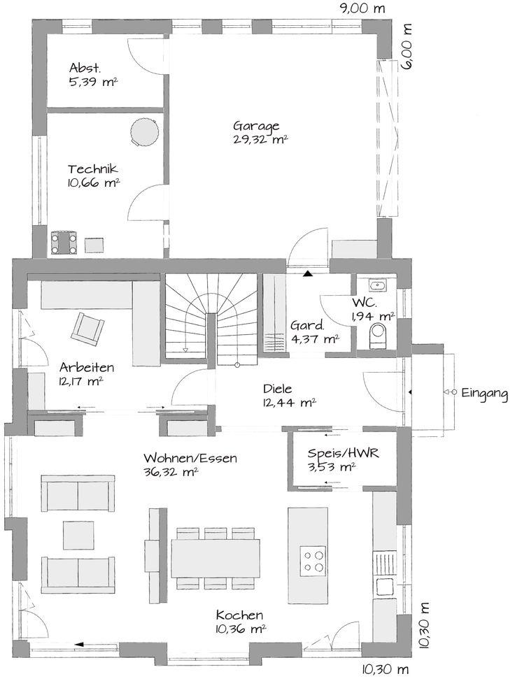 31 besten grundriss doppelhaush lfte bilder auf pinterest hausbau grundriss kleine h user und. Black Bedroom Furniture Sets. Home Design Ideas