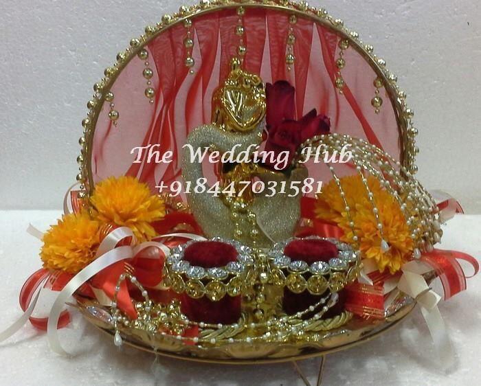 golden couple ring platter