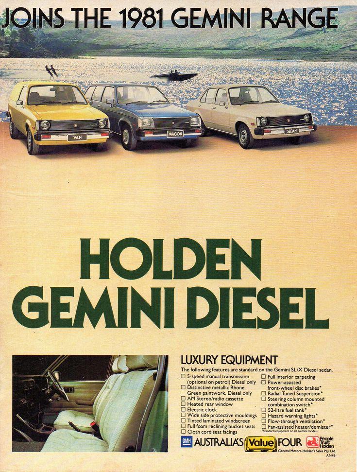 1981 TE Holden Gemini Diesel & Range Page 2 Aussie Original Magazine Advertisement032