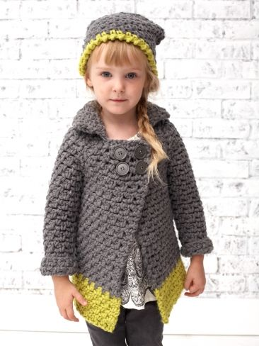 Dipped Coat | Yarn | Free Knitting Patterns | Crochet Patterns | Yarnspirations *Wanna use this color- scheme. For knitting