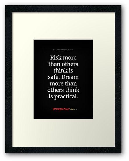 Risk more!