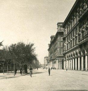 Italy Roma Vittorio Emanuele Square Old NPG Stereo Photo 1900