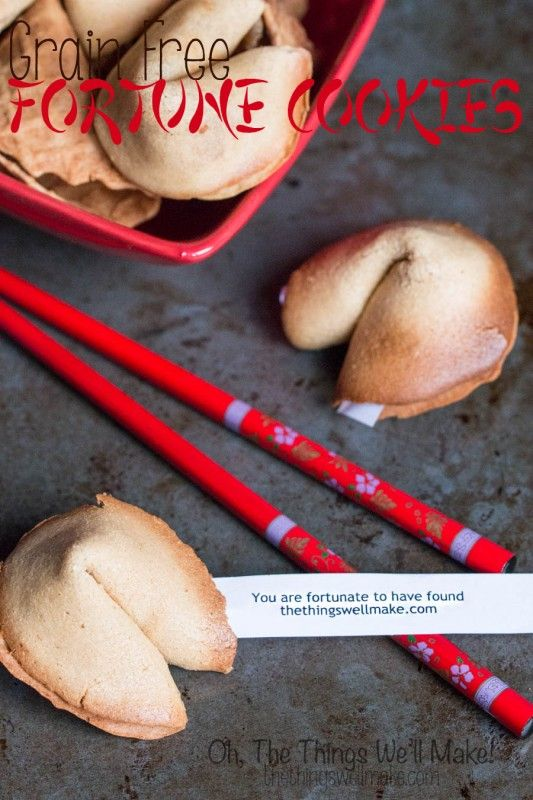 This post shares a grain free recipe for fortune cookies, and ideas for using them.