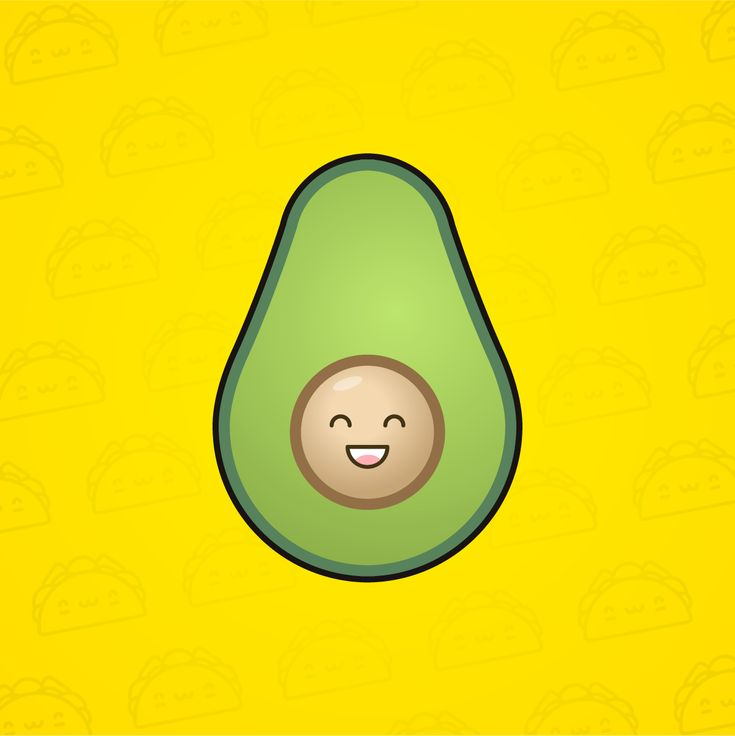 #smile #avocado #illustration #cute #taco