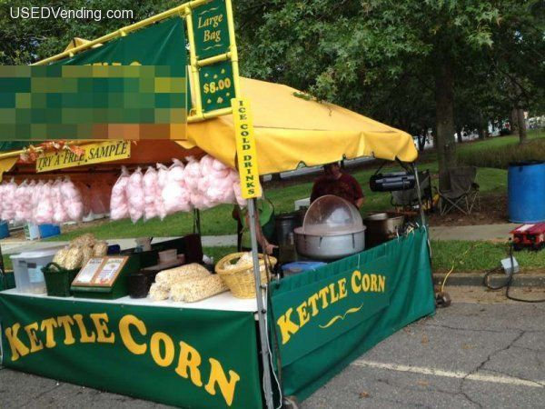 kettle corn setup with candy machine