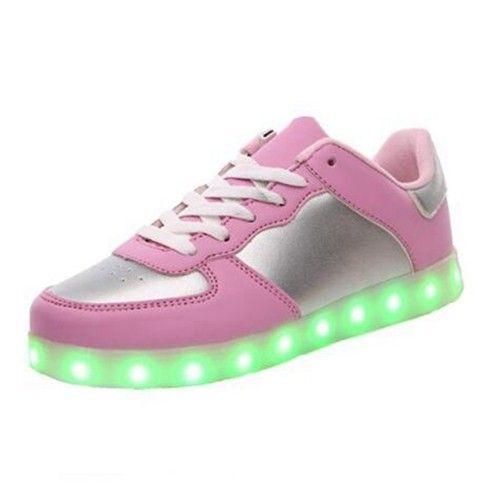 Rosa Schuhe Mit LED Leuchtender Sohle Kinder