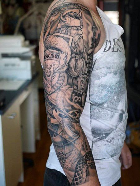 Viking tattoos for men ideas and inspiration for guys for Norse tattoo sleeve