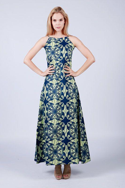 Maxi dress Blue Maxi Dress Blue and White Maxi by COLUFashion