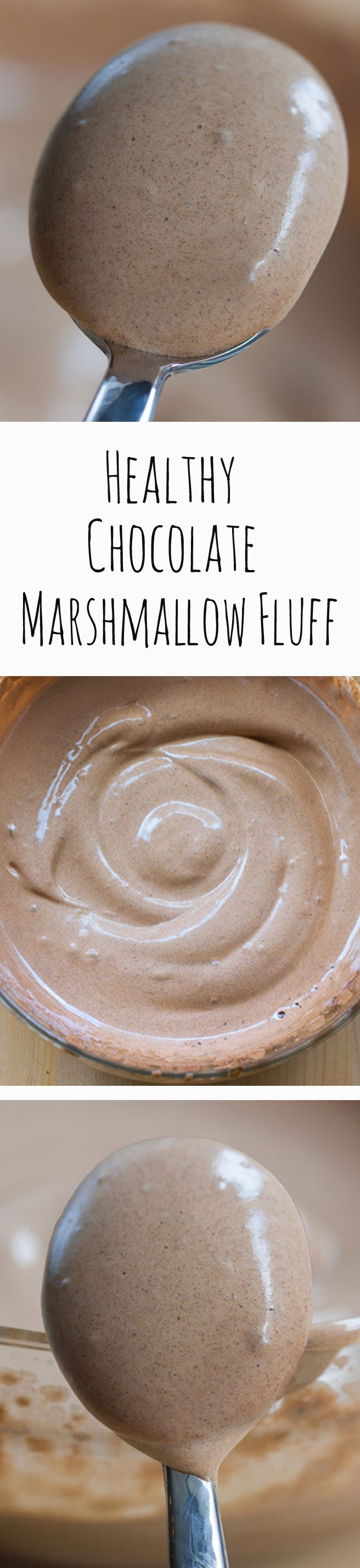 No corn syrup, no powdered sugar, no raw eggs... You will NEVER believe the ingredients that make this! ... Full recipe: http://chocolatecoveredkatie.com/2015/04/30/healthy-vegan-marshmallow-fluff/ @choccoveredkt