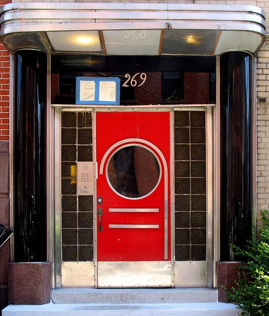 Art Deco door in Bklyn Heights by Tom Rupolo/Urban Landscape Photography, via Flickr