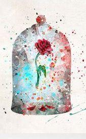 The beast's rose watercolor