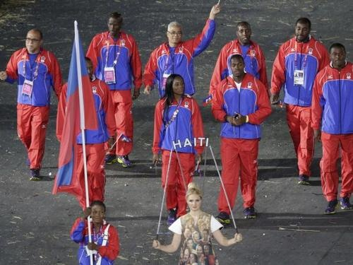 Linouse Desravine, Haiti's Flag Bearer at the Opening Ceremonies of the 2012 London Olympic Games #London2012