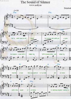 sound of silence lyrics and chords pdf