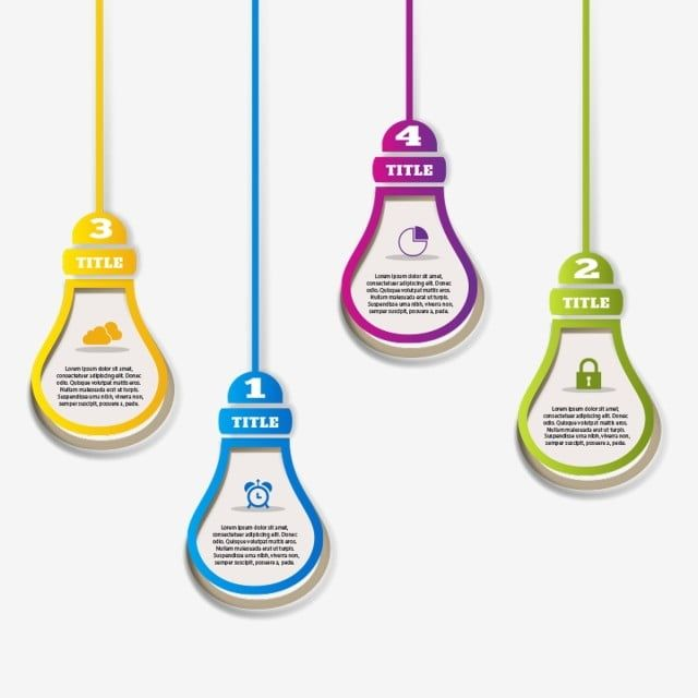 Hanging Infographic Bulb Infographic Template Chart Png Transparent Clipart Image And Psd File For Free Download Light Bulb Graphic Design Free Graphic Design Kindergarten Coloring Pages