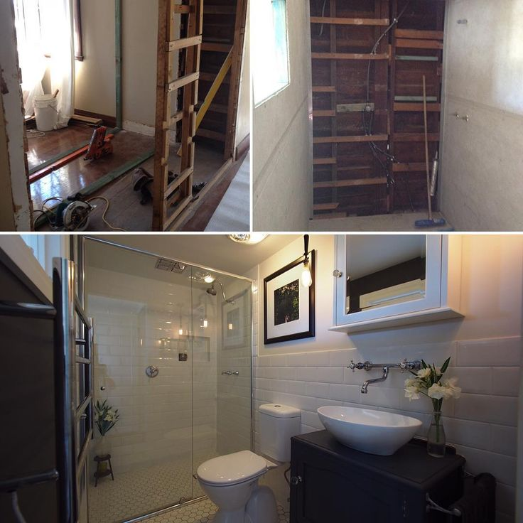 Before, during and after the Ensuite renovation