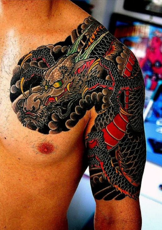 Image may contain one or more people Japanese tattoo