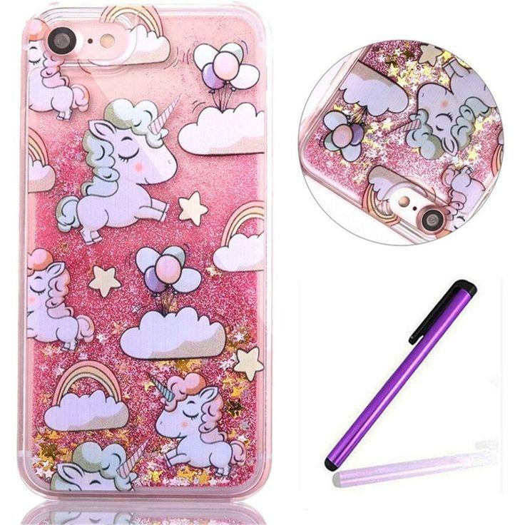 iPhone 5S Case,EMAXELER 3D Angel Girl Series Brilliant Luxury Bling Glitter Liqu #EMAXELER