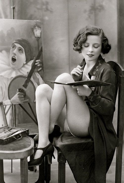 L'artiste, French postcard c1925