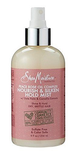 SheaMoisture Peace Rose Oil Complex Nourish & Silken Hold Mist 8 oz
