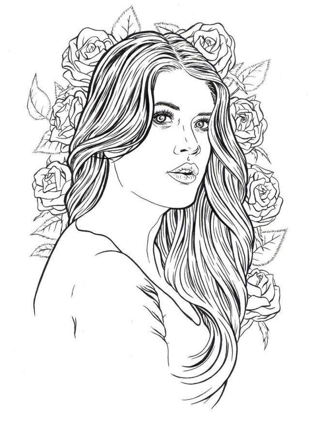 Beautiful Girl Coloring Pages : beautiful, coloring, pages, Coloring, Pages
