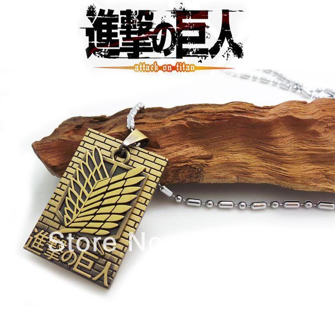 Не Shingeki не Kyojin/Нападение на Титан бронза Ожерелье Скаутинг Легион значок + Стены подвески мужчины женщины старинные ювелирные изделия