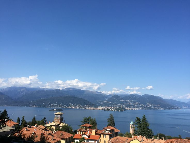 The resort town of Stresa on Lake Maggiore.