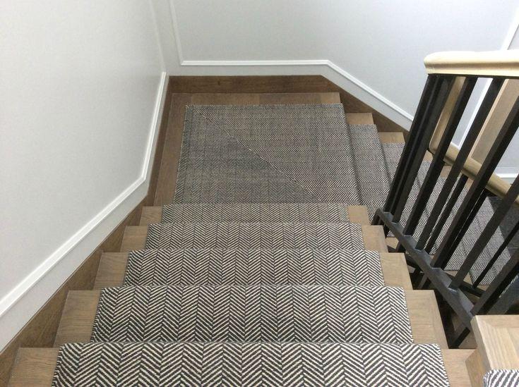 Cavalcanti Stair Runner In Herringbone Design Flatwoven