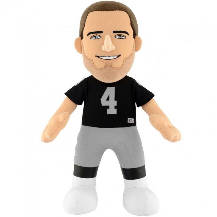 """Derek Carr (Oakland Raiders) 10"""" NFL Player Plush Bleacher Creatures"""