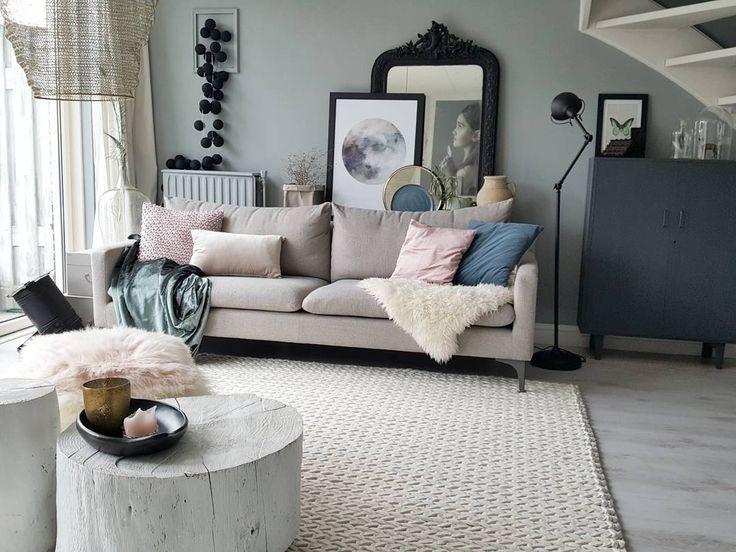 Soms zijn woonkamers gewoon heel mooi! Credits: @rohouseproud #wooninspiratie