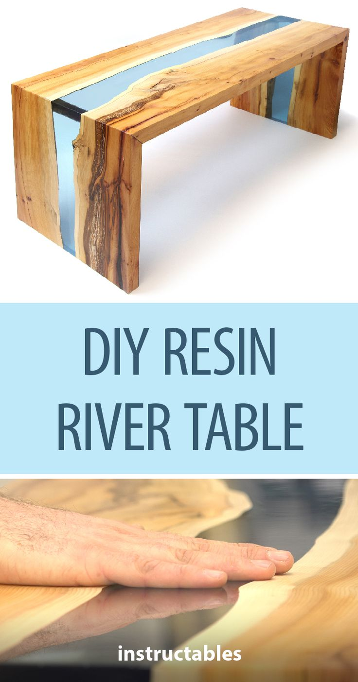 DIY Resin River Table Using Clear Epoxy Casting Resin and Wood