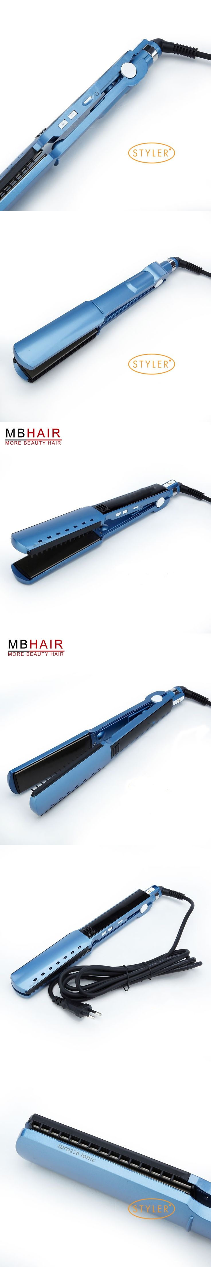 High quality professional Nano Titanium Hair Straightener Flat iron Iron adjust temperature wet and dry Fast Heat Not hurt hair